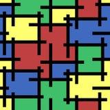 Абстрактная безшовная предпосылка мозаики картины иллюстрация вектора