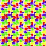 Абстрактная безшовная предпосылка мозаики цветного стекла картины иллюстрация штока
