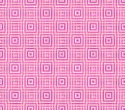 Абстрактная безшовная предпосылка розовых и белых линий и квадратов Стоковая Фотография