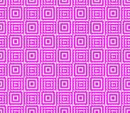 Абстрактная безшовная предпосылка розовых и белых линий и квадратов Стоковое Изображение