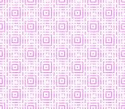 Абстрактная безшовная предпосылка розовых и белых линий и квадратов Стоковые Изображения RF