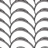Абстрактная безшовная предпосылка с изгибать линии Стоковое фото RF