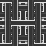 Абстрактная безшовная предпосылка с переплетаться нашивки Стоковое Изображение RF