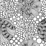 Абстрактная безшовная предпосылка с стилем doodle, путать Дзэн для вас конструирует Стоковое Изображение