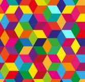 Абстрактная безшовная предпосылка с украшением куба Стоковая Фотография RF