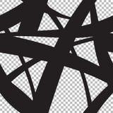 Абстрактная безшовная предпосылка черных линий бесплатная иллюстрация