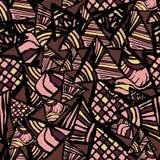 абстрактная безшовная текстура Картина с треугольниками Стоковое Фото