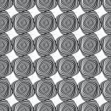 Абстрактная безшовная черно-белая картина формы нашивок Стоковое Фото