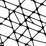 Абстрактная безшовная черно-белая предпосылка с линиями Стоковое фото RF