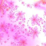 абстрактная белизна звезды пинка предпосылки Стоковые Фото