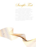 абстрактная белизна золота предпосылки Стоковые Фото