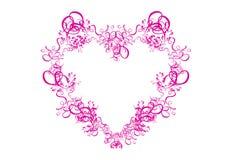абстрактная белизна пинка сердца предпосылки Стоковая Фотография