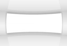 Абстрактная белая иллюстрация вектора экрана Стоковое фото RF