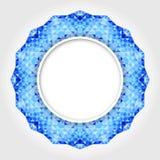 Абстрактная белая круглая рамка с голубой границей цифров Стоковое Изображение RF