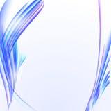 Абстрактная белая предпосылка с голубой striped текстурой, пустым экземпляром Стоковая Фотография RF