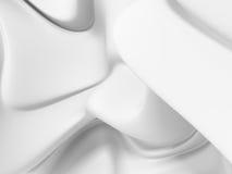 Абстрактная белая ровная предпосылка роскоши ткани Стоковые Фотографии RF
