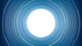 Абстрактная белая технология круга на голубой предпосылке Стоковая Фотография RF