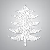 абстрактная белизна рождественской елки Стоковая Фотография