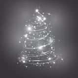абстрактная белизна рождественской елки Стоковое Изображение