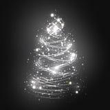 абстрактная белизна рождественской елки иллюстрация вектора
