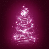 абстрактная белизна рождественской елки Стоковые Фото