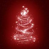 абстрактная белизна рождественской елки Стоковые Изображения RF