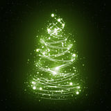 абстрактная белизна рождественской елки Стоковое Фото