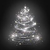 абстрактная белизна рождественской елки Стоковое фото RF