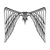 Абстрактная белизна черноты татуировки крылов иллюстрации вектора Стоковая Фотография RF