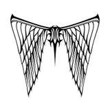 Абстрактная белизна черноты татуировки крылов иллюстрации вектора Стоковые Изображения RF