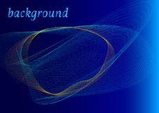 Абстрактная бирюза и желтые волны на голубой предпосылке бесплатная иллюстрация