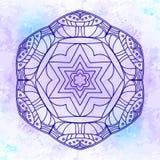 Абстрактная богато украшенная предпосылка мандалы Стоковое Изображение