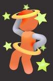 абстрактная боль иллюстрации головной боли backache Стоковое фото RF
