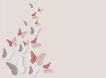 Абстрактная бумажная отрезка предпосылка бабочки вне также вектор иллюстрации притяжки corel Стоковая Фотография