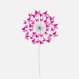 Абстрактная бумажная отрезка предпосылка цветка бабочки вне Illus вектора Стоковое Фото