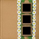 Абстрактная бумажная предпосылка с гирляндой Стоковая Фотография