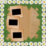 Абстрактная бумажная предпосылка с гирляндой Стоковое фото RF