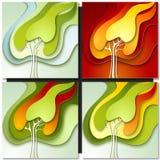 Абстрактная бумажная предпосылка природы Стоковые Изображения RF