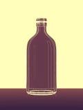 Абстрактная бутылка на поле Стоковое Фото