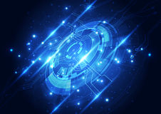 Абстрактная будущая концепция технологии, предпосылка иллюстрации Стоковое фото RF