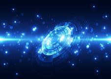 Абстрактная будущая предпосылка концепции технологии, иллюстрация вектора Стоковое Изображение RF