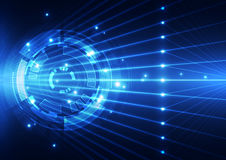 Абстрактная будущая предпосылка концепции технологии, иллюстрация вектора Стоковая Фотография RF