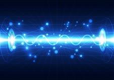 Абстрактная будущая предпосылка концепции технологии, иллюстрация вектора Стоковая Фотография