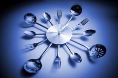 абстрактная ведьма ложки кухни вилки часов Стоковые Изображения RF