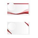 Абстрактная визитная карточка волны красного цвета Стоковая Фотография