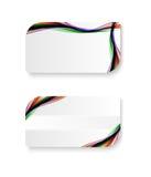 Абстрактная визитная карточка волны цвета радуги Стоковое Фото