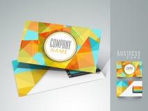 Абстрактная визитная карточка для вашей компании Стоковое Изображение RF