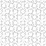 Абстрактная винтажная безшовная предпосылка с орнаментами мандалы Стоковая Фотография