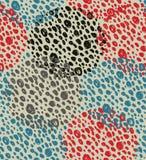Абстрактная винтажная безшовная предпосылка с кругами точек Ретро картина grunge Стоковое Изображение RF