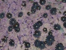 Абстрактная винтажная текстура с цветками Стоковые Изображения